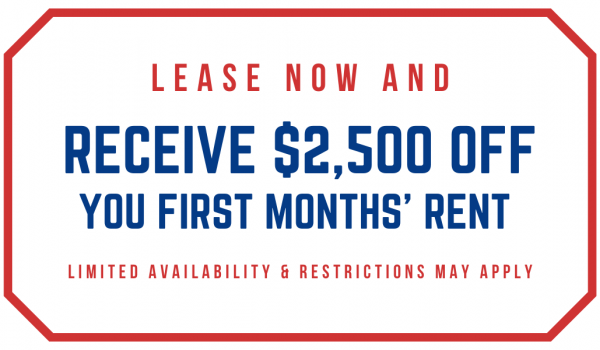 Newly REDUCED Rates and $2,500 Off Your First Months' Rent